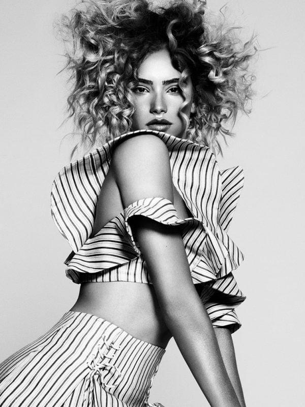 Female Model Curly Hair