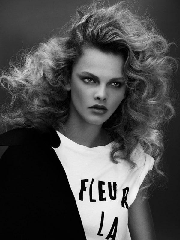 Jess female hair model curly