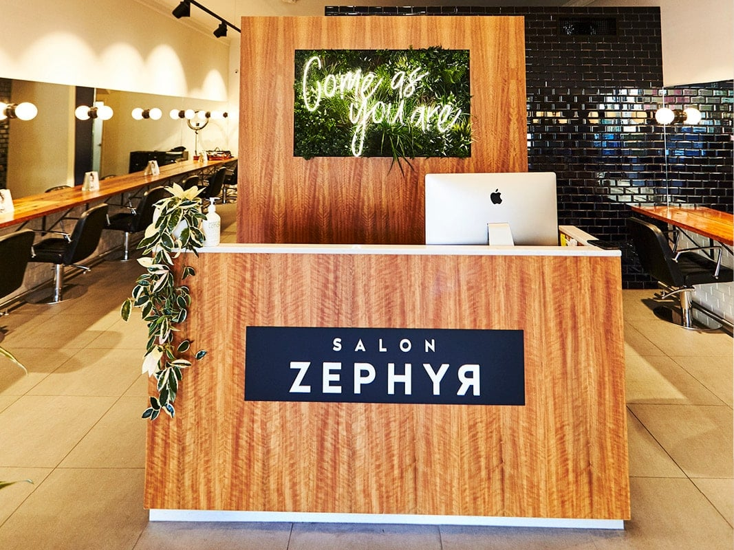 Salon Zephyr Reception Desk
