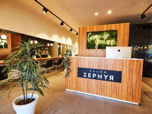 Salon Zephyr Interior Reception Area